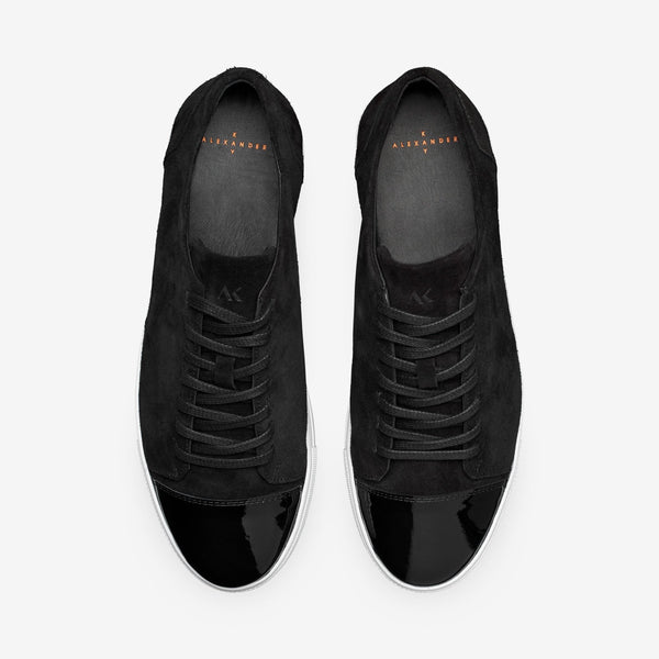 Dressed - Men's Sneaker Black Suede Leather
