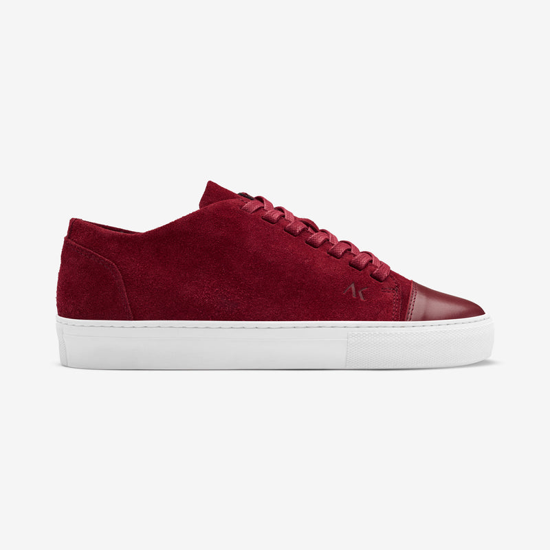 Dressed - Women's Sneaker Wine Red Suede Red Leather