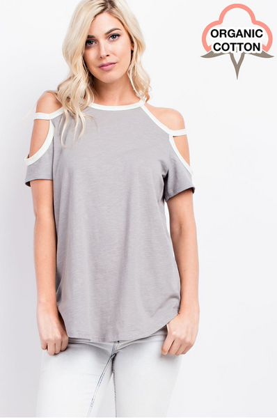 Cold Shoulder Knit Top - Final Sale