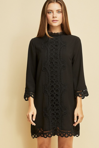In Lace of Emergency Mock-Neck Dress