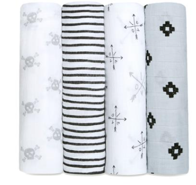 4pk swaddle Blankets-AAS