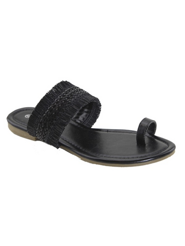 Fringe Loop Toe Sandal