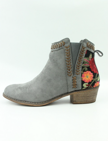 Rose Applique Bootie