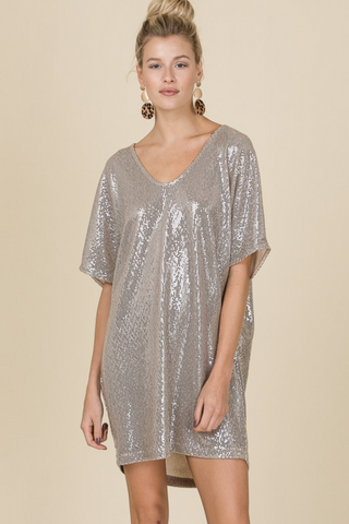 Party On Soft Sequin Dress