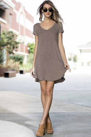 Mocha Short Sleeve Dress
