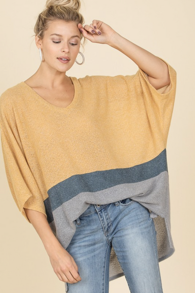 Around The Block Oversized Knit Top