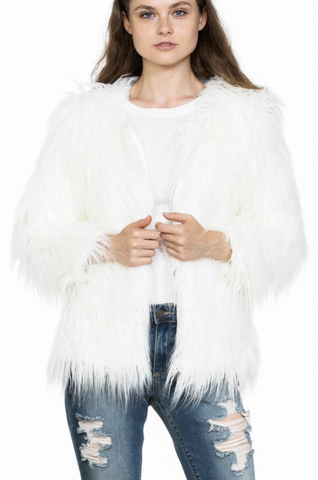 Go Fur It Long Faux Fur Jacket - Final Sale