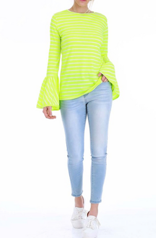 Neon Bell Sleeve Top