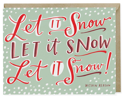 Note Card-Let It Snow