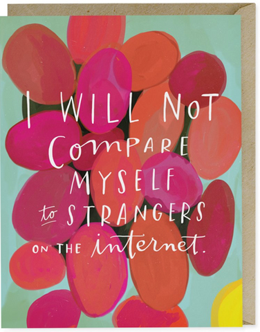 Note Card-I Will Not Compare