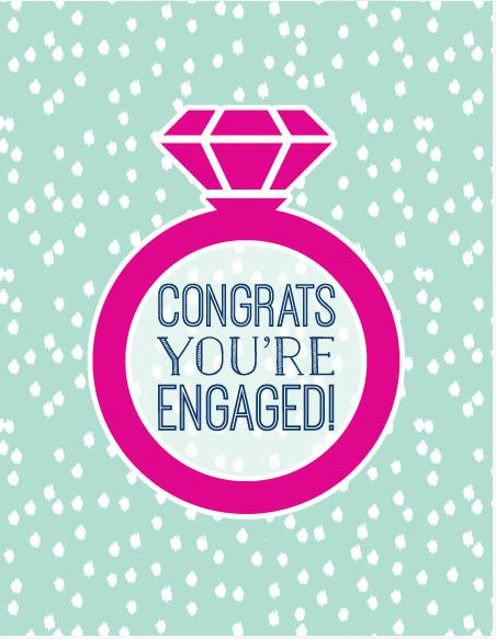 Congrats You're Engaged  Card