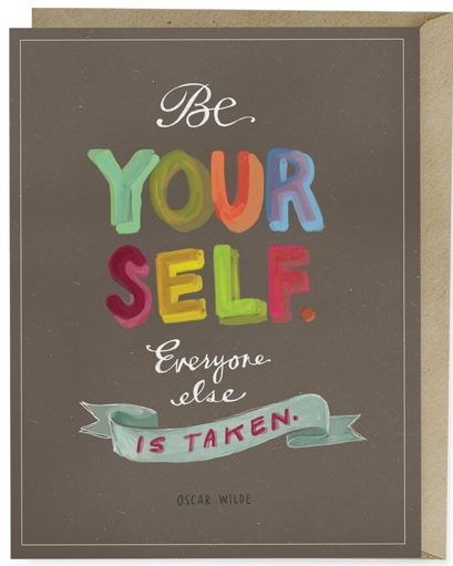 Be Your Self Card