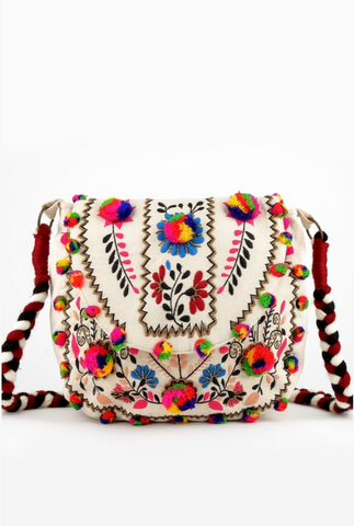 Ivory Multi Tapestry Crossbody