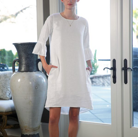 Blakley Linen Bell Sleeve Dress