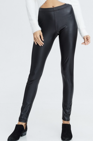 Run Riot Faux Leather Leggings