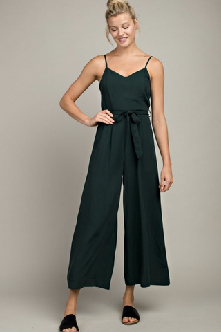 HUNTER GREEN PALOMA JUMPSUIT