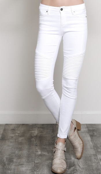 Skinny Crop Ankle Zip Jeans