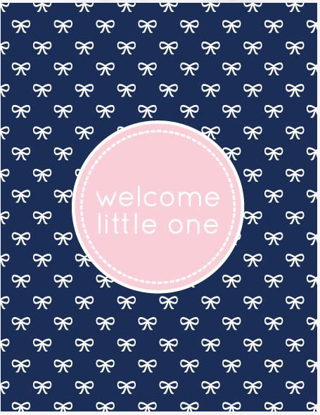 Welcome Little One Note Card