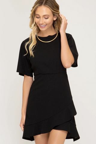 Bella Ruffle Knit Dress