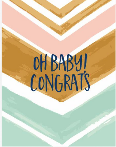 Oh Baby! Congrats  Note Card
