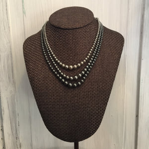 The Grey Trinity Necklace Set