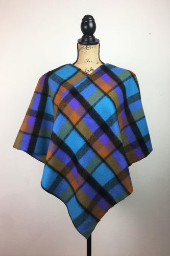 The 60's Beautifully Plaid Poncho
