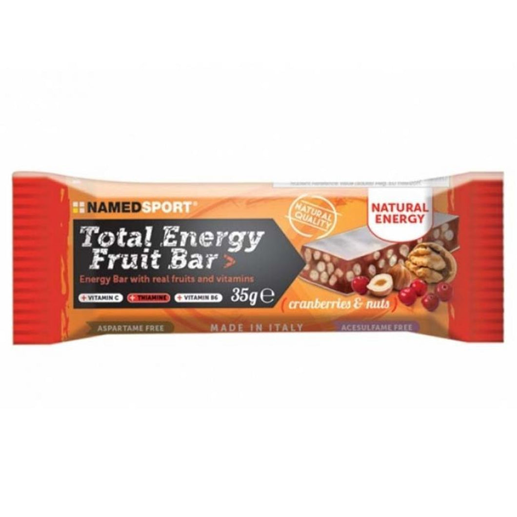 TOTAL ENERGY FRUIT BAR - CRANBERRY & NUTS - 35 g. - Barrette proteiche