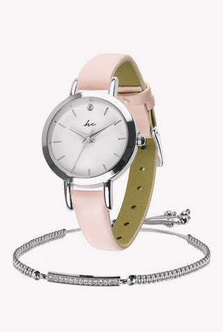 Dream Watch & Bracelet Set - Pink