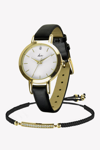 Dream Watch & Bracelet Set - Black/Gold