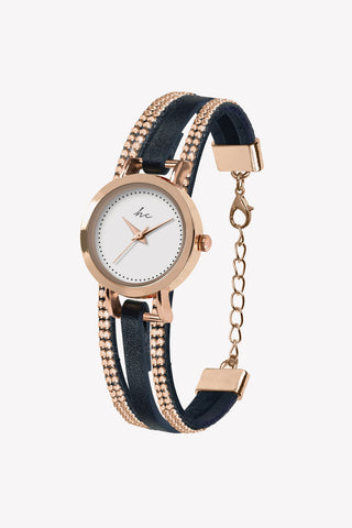 Forever Diamond Navy Rose Gold Watch