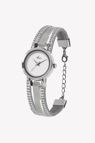 Forever Diamond Stone Silver Watch