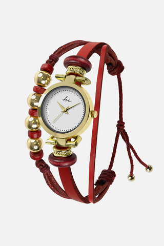 Painted Rosé - Gold/Red Watch