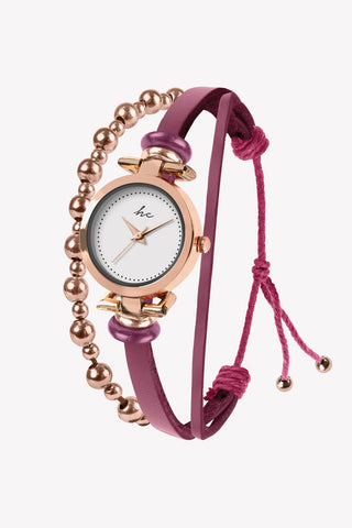 Painted Rosé Metal - Rose Gold/Berry Watch