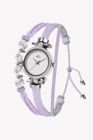 Painted Rosé Silver/Lilac Watch
