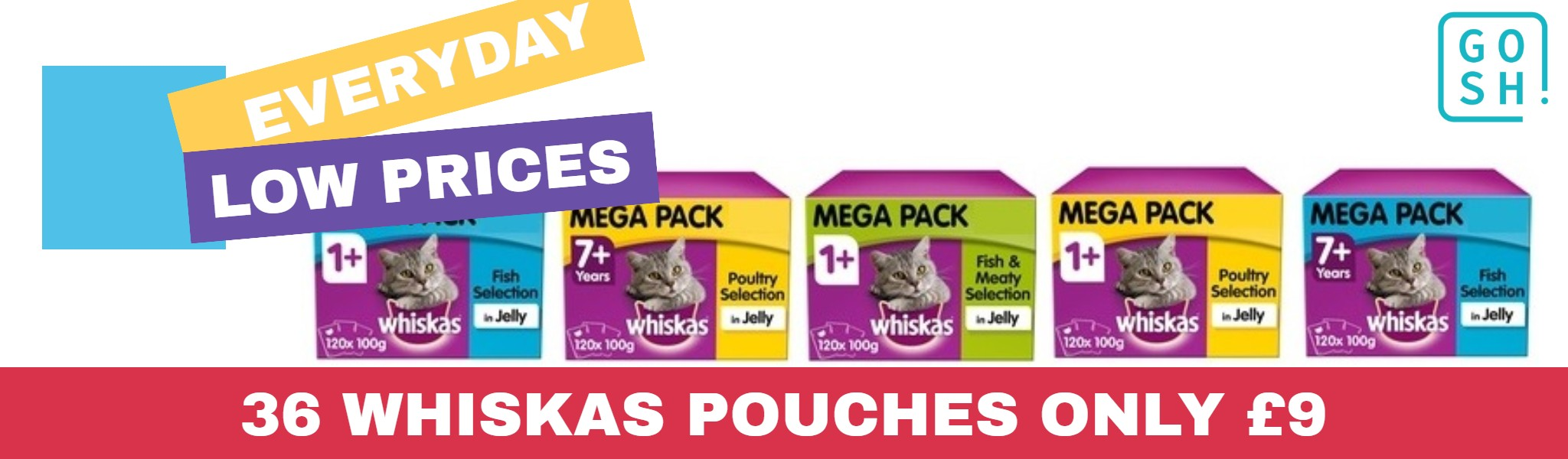 36 Whiskas Pouches Only £9