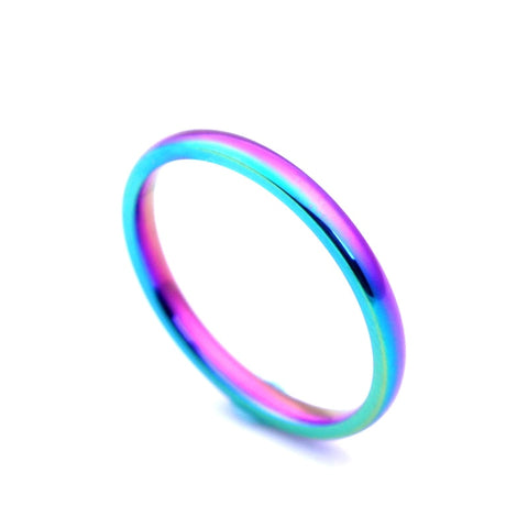 Rainbow Ring Stainless Steel 2mm