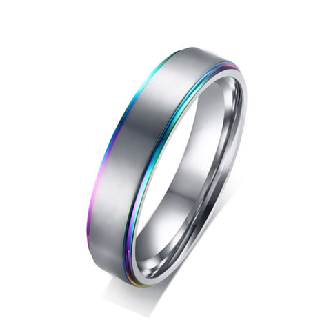 Rainbow & Silver Ring
