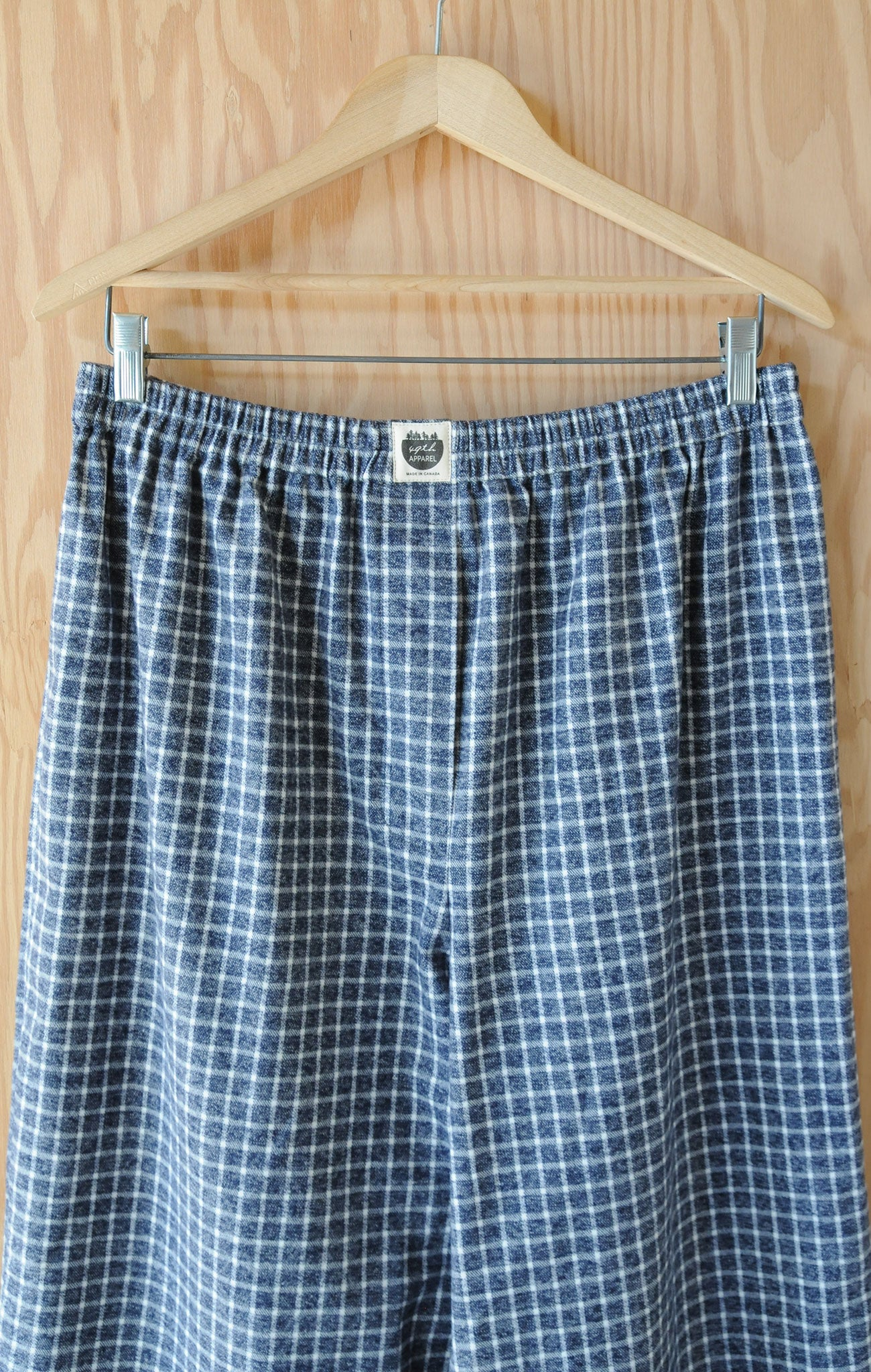 Men's Boxer Pants - Blue Chippewa Falls Check Flannel