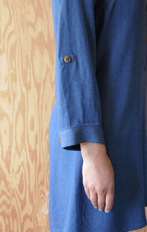 Gayle Dress - Blue Rayon