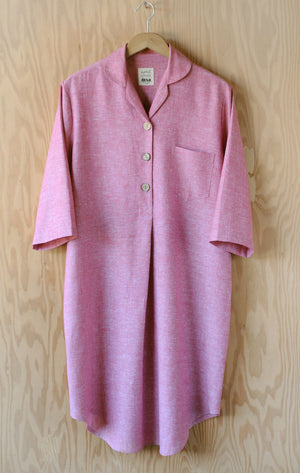 Emilia Nightshirt - Watermelon Linen