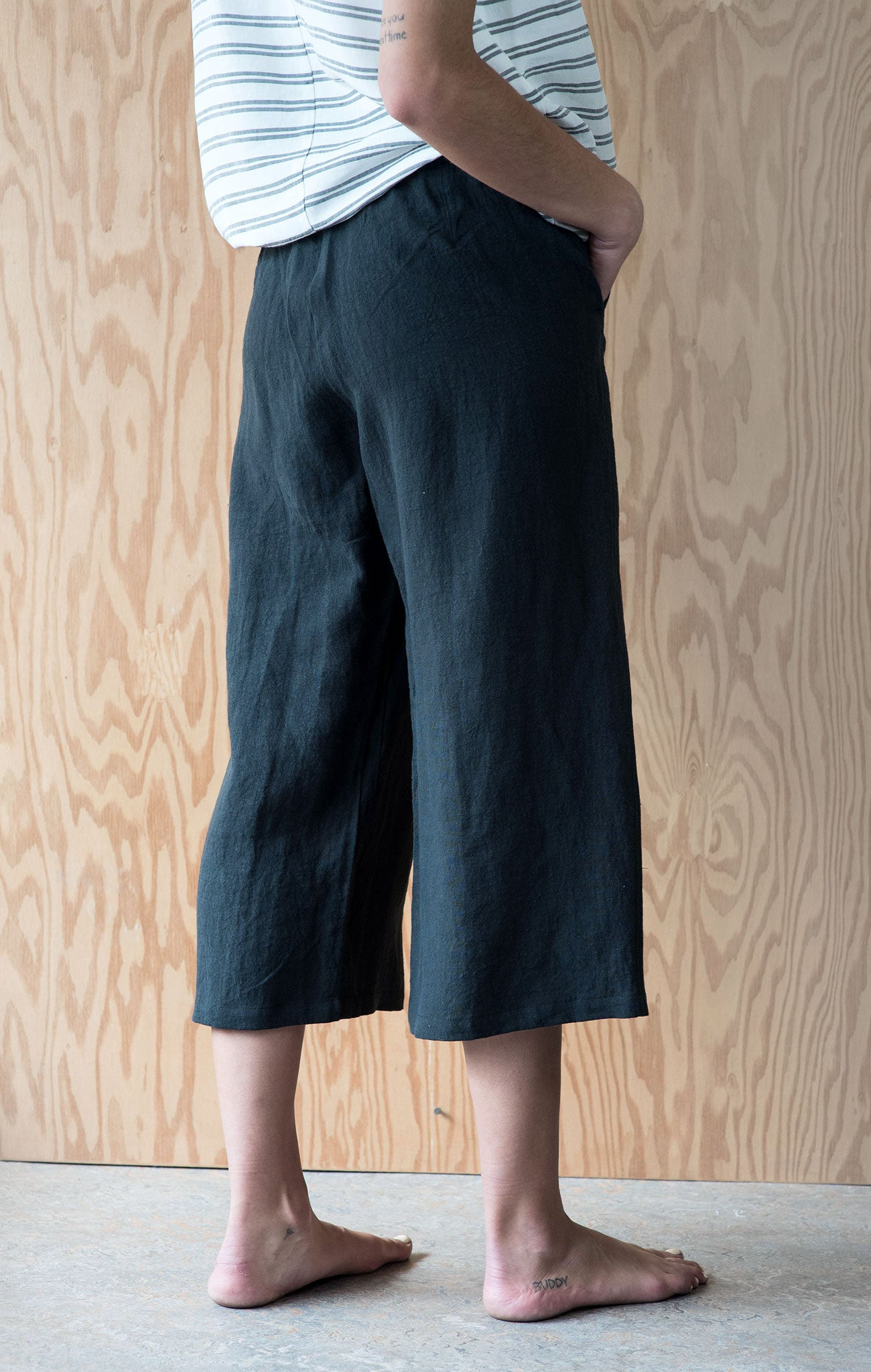 Mara Pant - Faded Black Linen
