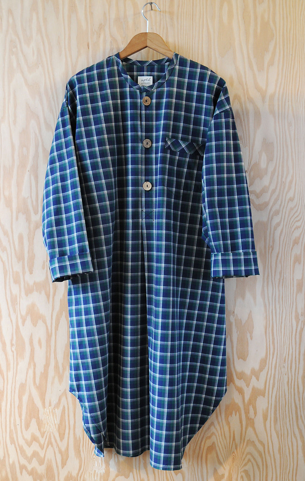 Ebeneezer Nightshirt - Ranger Lake Plaid Leaf