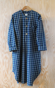 Ebeneezer Nightshirt - Ranger Lake Plaid Leaf Brushed Cotton