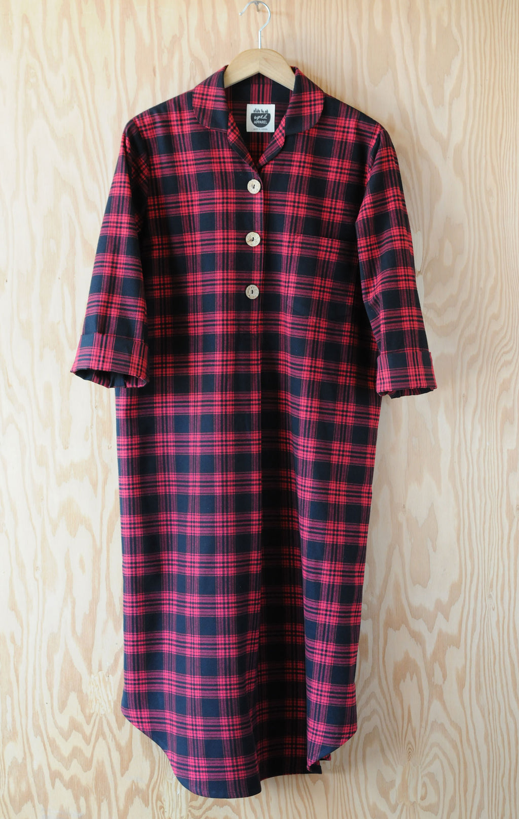 Emilia Nightshirt - Heritage Plaid Red Flannel