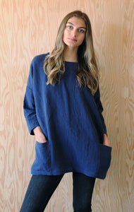 Bridget Tunic - Blue Linen