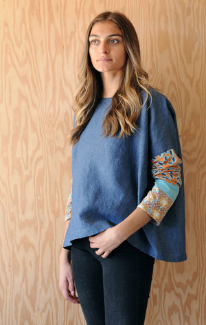 Re-Made Tunic - Blue Lake Linen