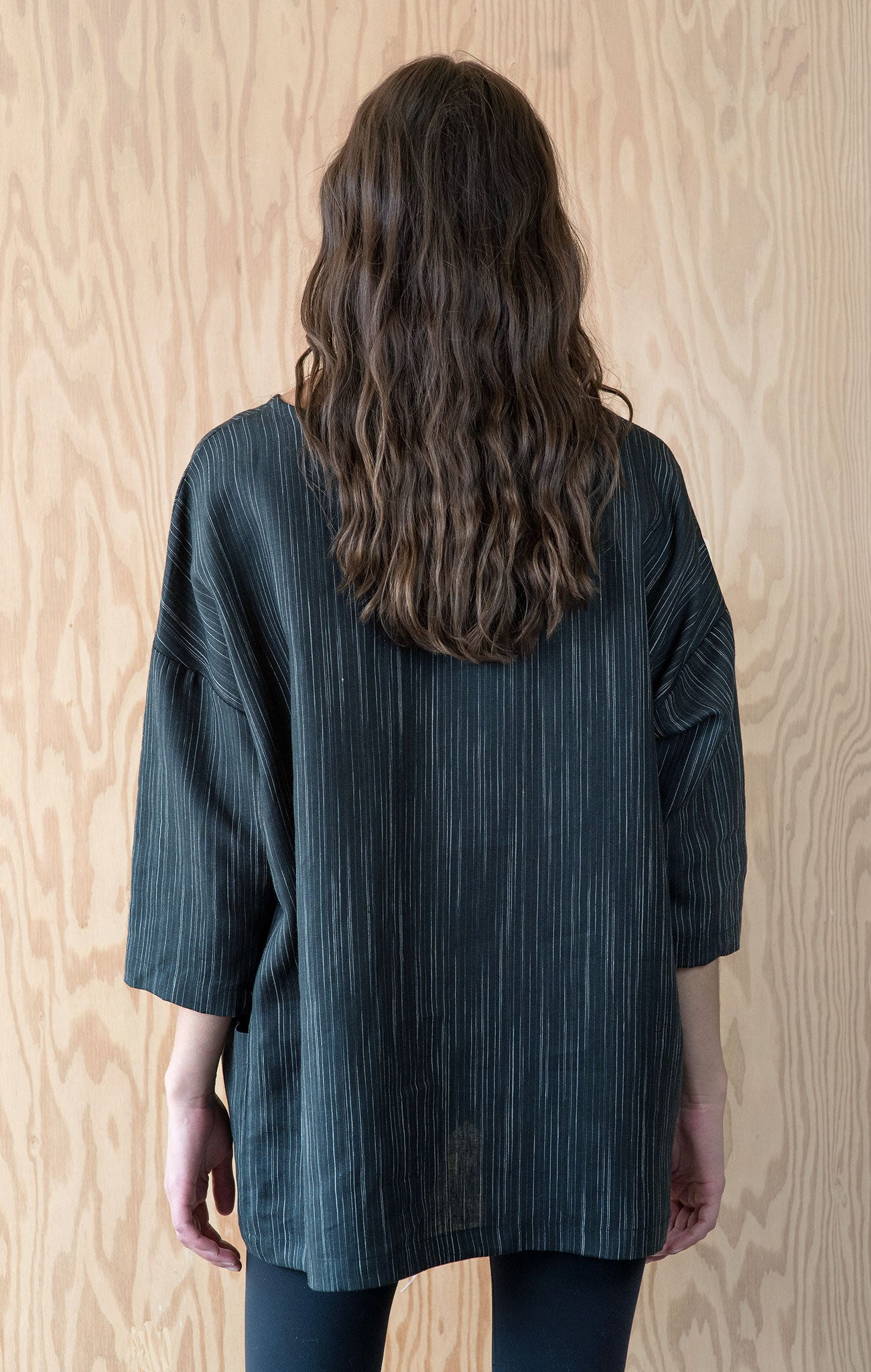 Bridget Tunic - Black Italian  Linen