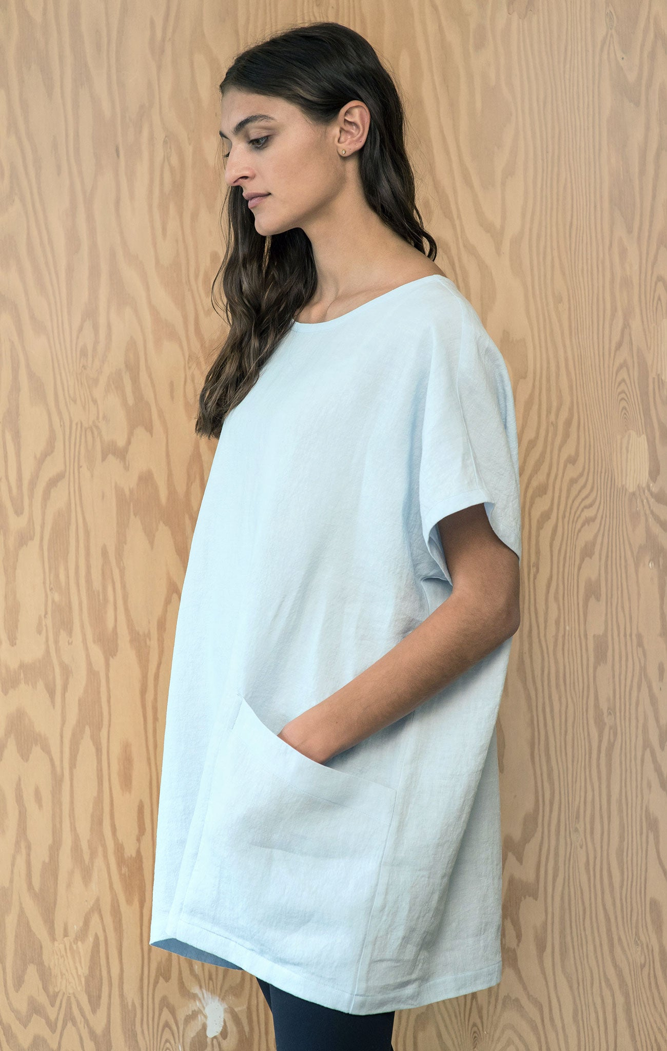Evelyn Tunic - Sky Blue Linen