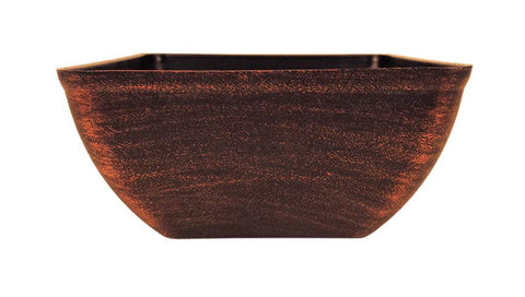 Jane Square Planter Copper 8""