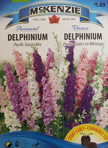 Pacific Giants Mix Delphinium Seeds